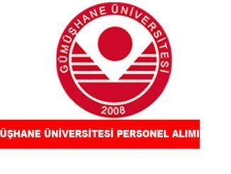 Gümüşhane Üniversitesi Personel Alımı ve İş İlanları