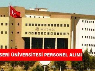 Kayseri Üniversitesi Personel Alımı ve İş İlanları