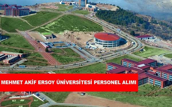 Mehmet Akif Ersoy Üniversitesi Personel Alımı ve İş İlanları