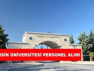 Mersin Üniversitesi Personel Alımı ve İş İlanlarıı