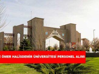 Niğde Ömer Halisdemir Üniversitesi Personel Alımı ve İş İlanları