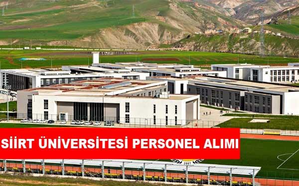 Siirt Üniversitesi Personel Alımı ve İş İlanları