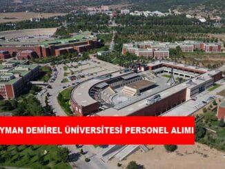 Süleyman Demirel Üniversitesi Personel Alımı ve İş İlanları