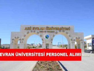 Ahi Evran Üniversitesi Personel Alımı ve İş İlanları