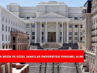 Ankara Müzik ve Güzel Sanatlar Üniversitesi Personel Alımı ve İş İlanları