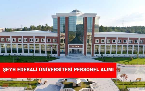 Bilecik Şeyh Edebali Üniversitesi Personel Alımı ve İş İlanları