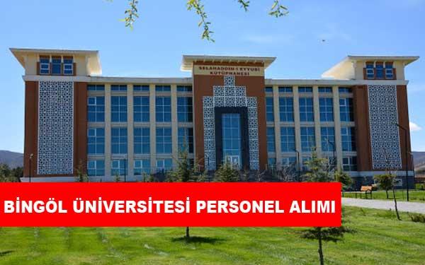 Bingöl Üniversitesi Personel Alımı ve İş İlanları