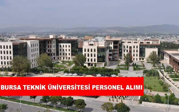 Bursa Teknik Üniversitesi Personel Alımı ve İş İlanları