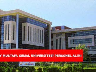 Hatay Mustafa Kemal Üniversitesi Personel Alımı ve İş İlanları