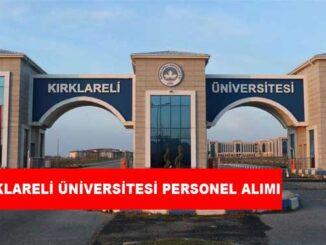 Kırklareli Üniversitesi Personel Alımı ve İş İlanları