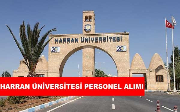 Harran Üniversitesi Personel Alımı ve İş İlanları