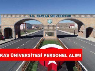Kafkas Üniversitesi Personel Alımı ve İş İlanları