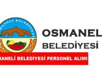 Osmaneli Belediye Başkanlığı Personel Alımı ve İş İlanları