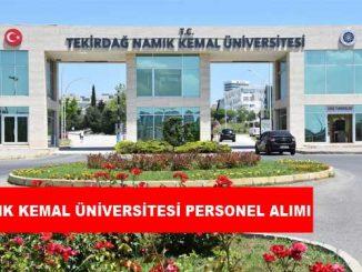 Tekirdağ Namık Kemal Üniversitesi Personel Alımı ve İş İlanları