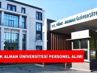 Türk-Alman Üniversitesi Personel Alımı ve İş İlanları