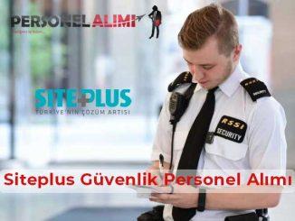 Siteplus Güvenlik Personel Alımı ve İş İlanları
